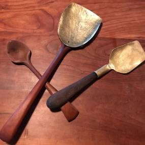 Alexandra Forbes, Unique Serving Utensils Made from Wood & Brass, Woodworking