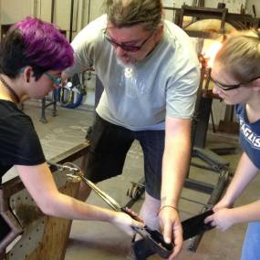 high school glassblowing