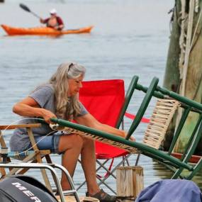 Sue Muldoon, woodworking, weaving