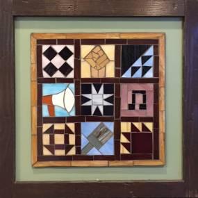 Emily Bhargava, Mosaics with Found Objects