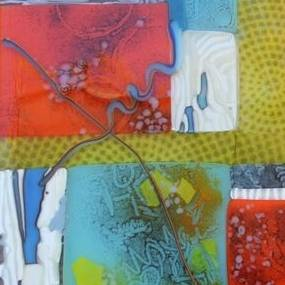 Janet Dalecki, Fused Glass Collage