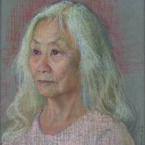 Ellen Eagle, Portrait Painting in Pastel. 2D, Mixed Media