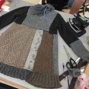 Crispina ffrench, Make Functional Beauty with Used Clothing Alchemy, Fibers