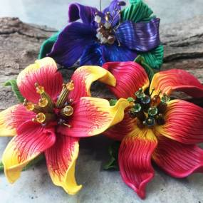 Sandy Huntress, Introduction to Polymer Clay: Focus on Flowers, Metalsmithing, Jewelry