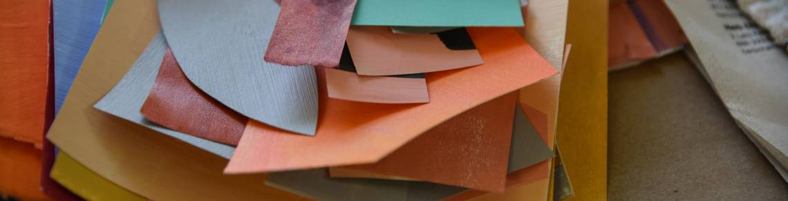 handmade paper, collage supplies, creativity workshops
